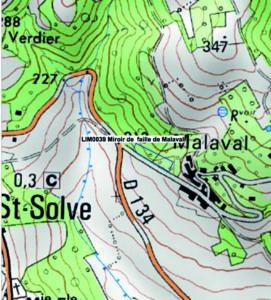 Cartographie de la faille de Malaval