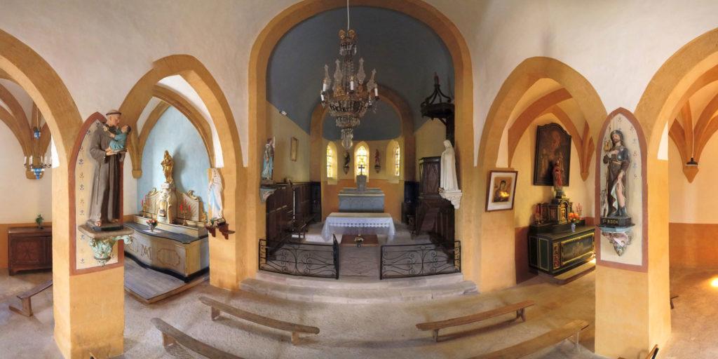 Panoramique intéieur de l'église de Saint-Solve