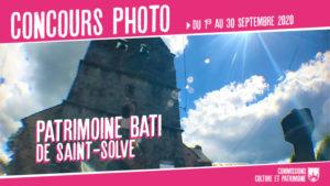 affiche concours photo patrimoine bâti de Saint-Solve