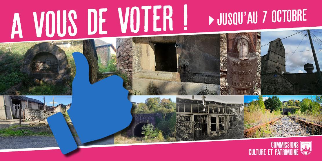 A vous de voter !