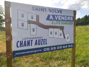 Lots du lotissement Chant Auzel à Saint-Solve